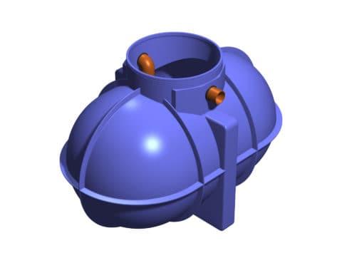 1800 litre underground grease trap