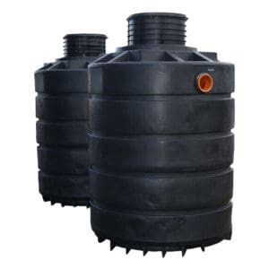 3000 litre plastic dual septic tank