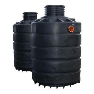 3800 litre plastic dual septic tank