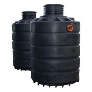 4880 litre plastic dual septic tank