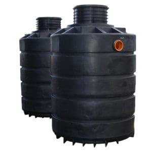 6000 litre plastic dual septic tank