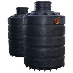7400 litre plastic dual septic tank