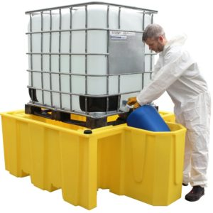 Single IBC Spill Pallet (with Integral dispensing area, without grid)