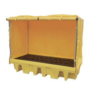 Soft Covered Double IBC Spill Pallet (with removable deck)