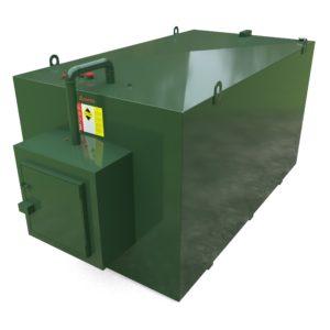 10000 Litre Steel Bunded Oil Tank c/w Fill Point Cabinet