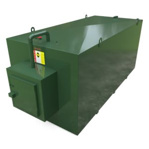 12000 Litre Steel Bunded Oil Tank c/w Fill Point Cabinet