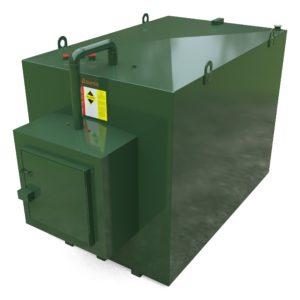 5600 Litre Steel Bunded Oil Tank c/w Fill Point Cabinet