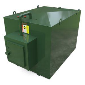 7500 litre steel bunded oil tank c/w fill point cabinet