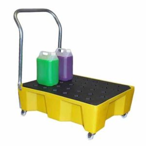 Mobile Spill Tray, 66ltr bund (with grid)