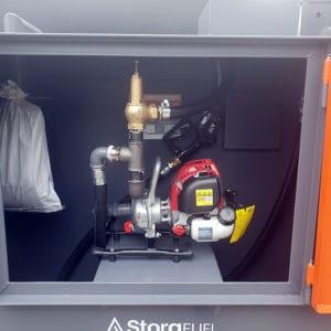 petrol pump inside diesel tank
