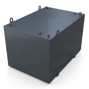 2700 litre steel bunded lube oil tank